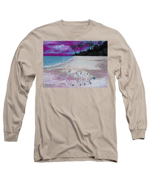 Merry Beachy Christmas Long Sleeve T-Shirt