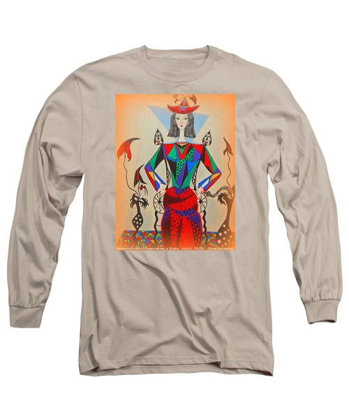 Long Sleeve T-Shirt featuring the painting Metamorphosis Of Eleonore by Marie Schwarzer