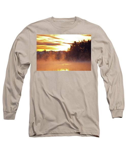 Long Sleeve T-Shirt featuring the photograph Misty Sunrise by Tikvah's Hope