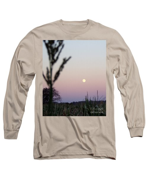 Long Sleeve T-Shirt featuring the photograph Moon by Andrea Anderegg