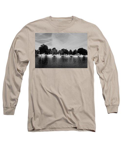 Long Sleeve T-Shirt featuring the photograph Mooring Line by Maj Seda