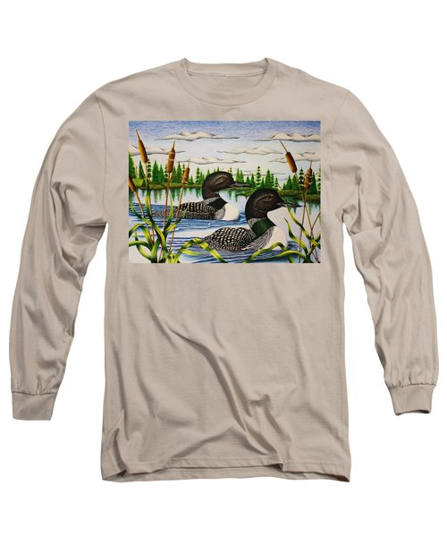 Morning Swim Long Sleeve T-Shirt by Bruce Bley