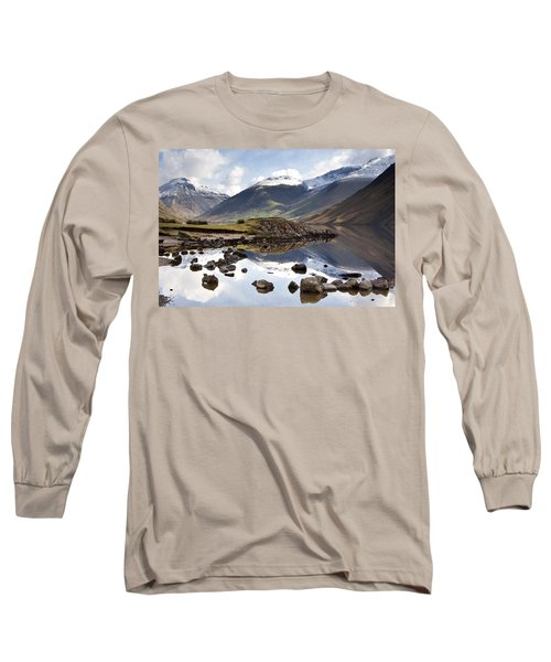Mountains And Lake At Lake District Long Sleeve T-Shirt