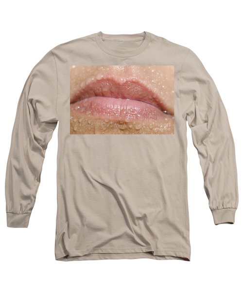 Mouth With Water Drops Long Sleeve T-Shirt