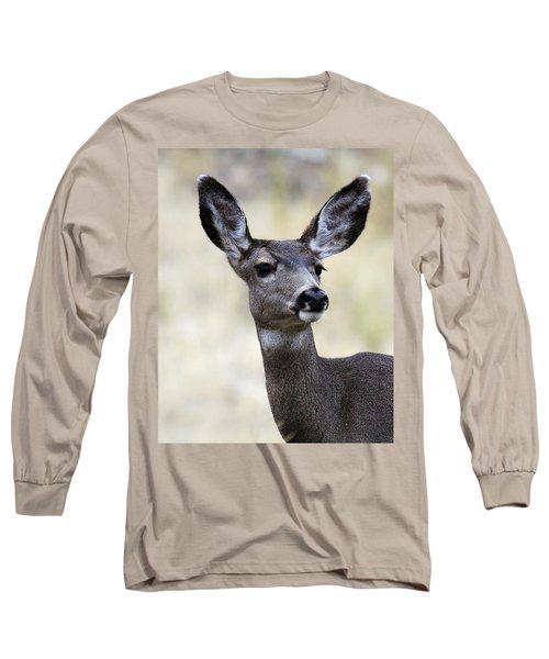 Long Sleeve T-Shirt featuring the photograph Mule Deer Doe by Steve McKinzie