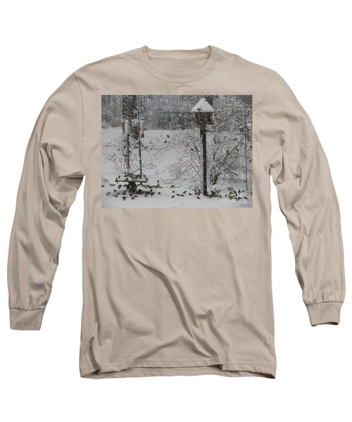 Long Sleeve T-Shirt featuring the photograph My Backyard by Donna Brown