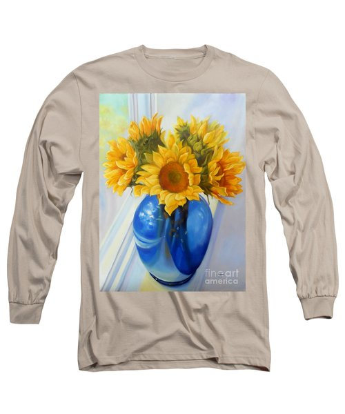 My Sunflowers Long Sleeve T-Shirt by Marlene Book