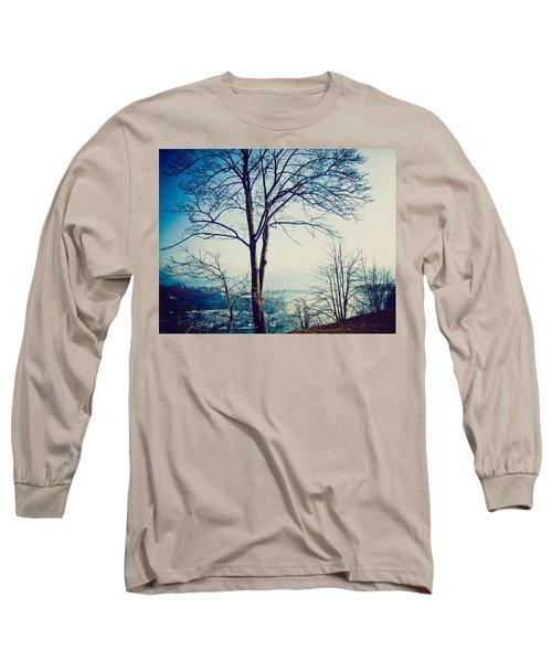 Mystic Blue Long Sleeve T-Shirt by Sara Frank
