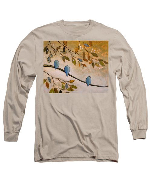 Long Sleeve T-Shirt featuring the painting Nature Birds Painting...peaceful Garden by Amy Giacomelli