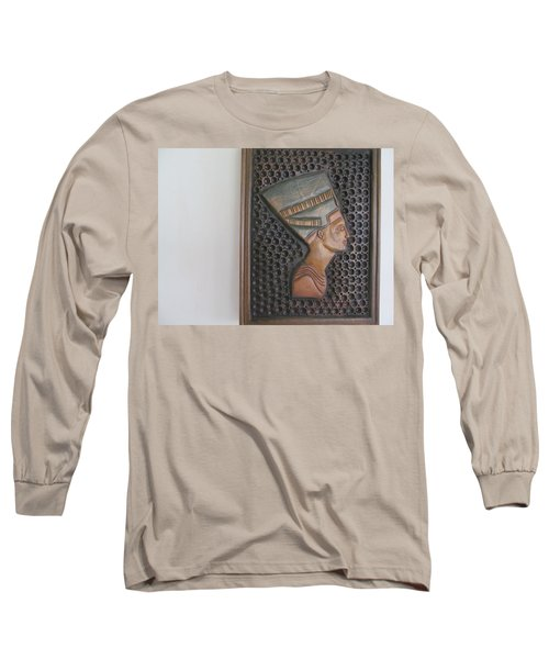 Long Sleeve T-Shirt featuring the photograph Nefertiti As Is by Tina M Wenger