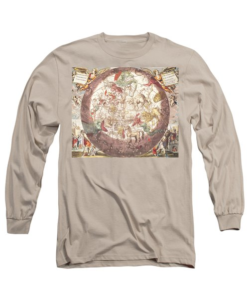 Northern Boreal Hemisphere From The Celestial Atlas Long Sleeve T-Shirt