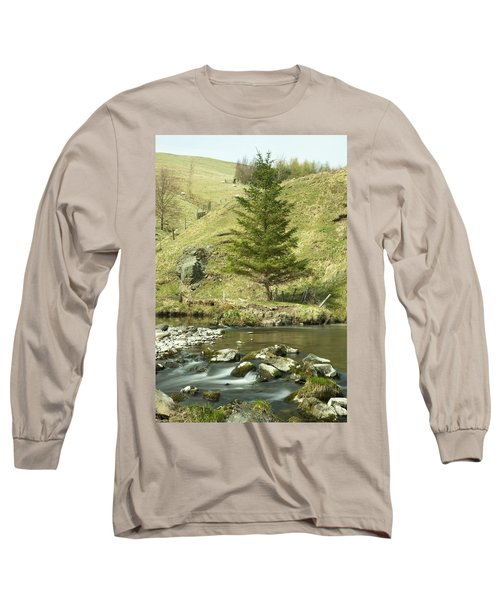 Long Sleeve T-Shirt featuring the photograph Northumberland, England A River Flowing by John Short