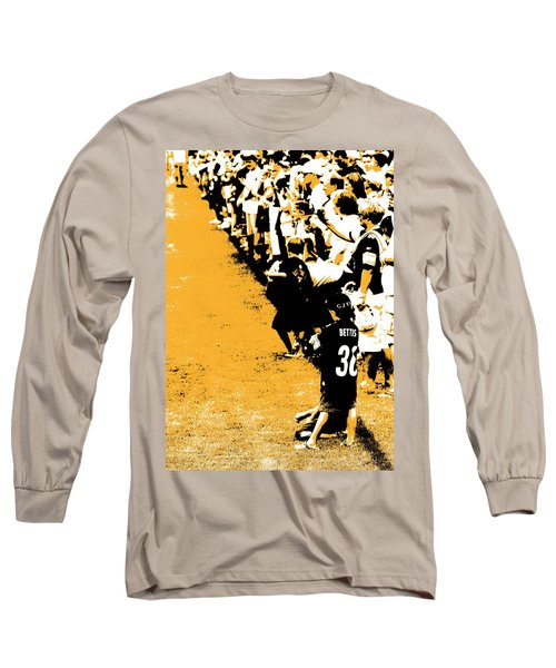 Number 1 Bettis Fan - Black And Gold Long Sleeve T-Shirt