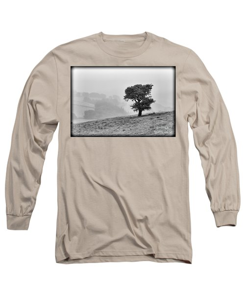 Long Sleeve T-Shirt featuring the photograph Oak Tree In The Mist. by Clare Bambers