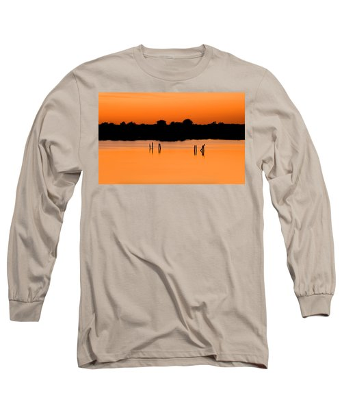 Orange Sunset Florida Long Sleeve T-Shirt by Rich Franco