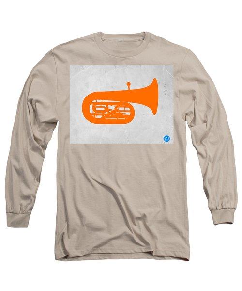 Orange Tuba Long Sleeve T-Shirt