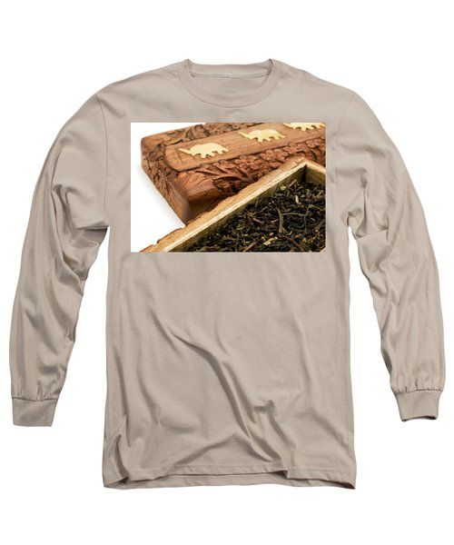 Ornate Box With Darjeeling Tea Long Sleeve T-Shirt