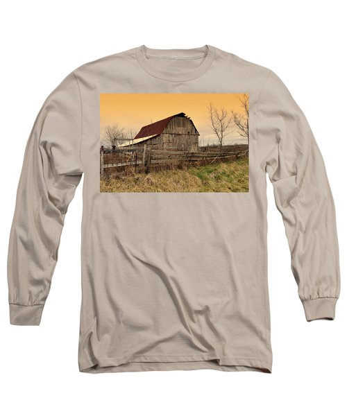 Long Sleeve T-Shirt featuring the photograph Ozark Barn 1 by Marty Koch