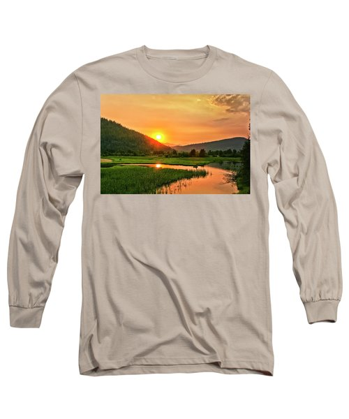Long Sleeve T-Shirt featuring the photograph Pack River Delta Sunset by Albert Seger