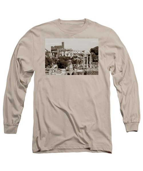 Panoramic View Via Sacra Rome Long Sleeve T-Shirt