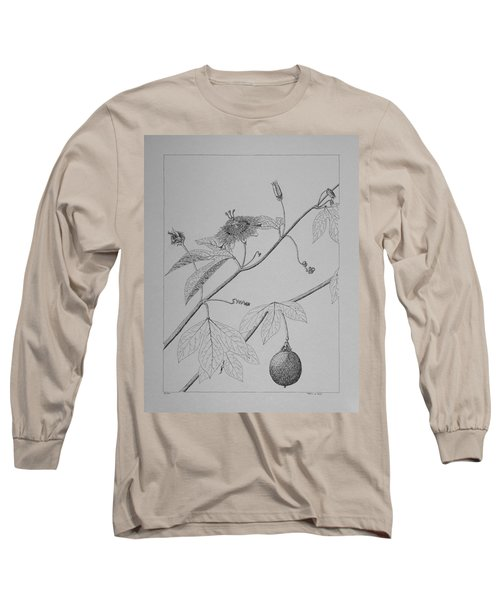 Passionflower Vine Long Sleeve T-Shirt by Daniel Reed