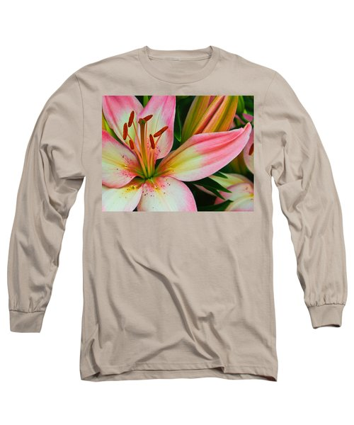 Pastel Pretty Long Sleeve T-Shirt by Lynne Jenkins