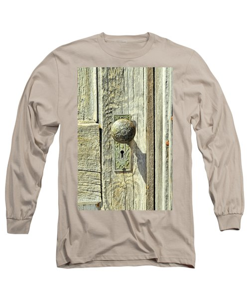 Long Sleeve T-Shirt featuring the photograph Patina Knob by Fran Riley