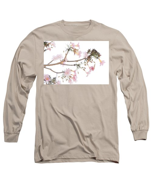 Pink Blossoms In Panama Long Sleeve T-Shirt