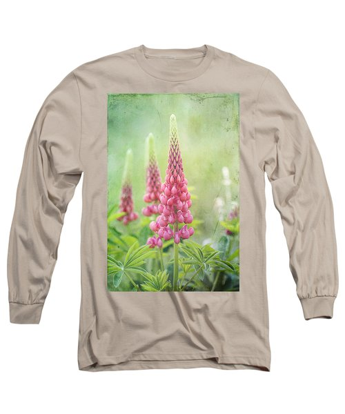 Pink Lupine Long Sleeve T-Shirt