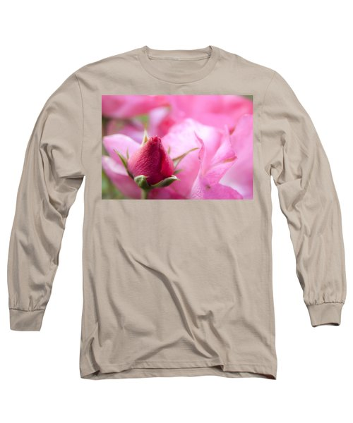 Long Sleeve T-Shirt featuring the photograph Pink Rose by Jeannette Hunt