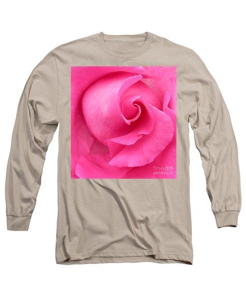 Pink Rose Long Sleeve T-Shirt by Mark Gilman