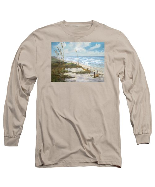 Long Sleeve T-Shirt featuring the painting Playalinda by AnnaJo Vahle