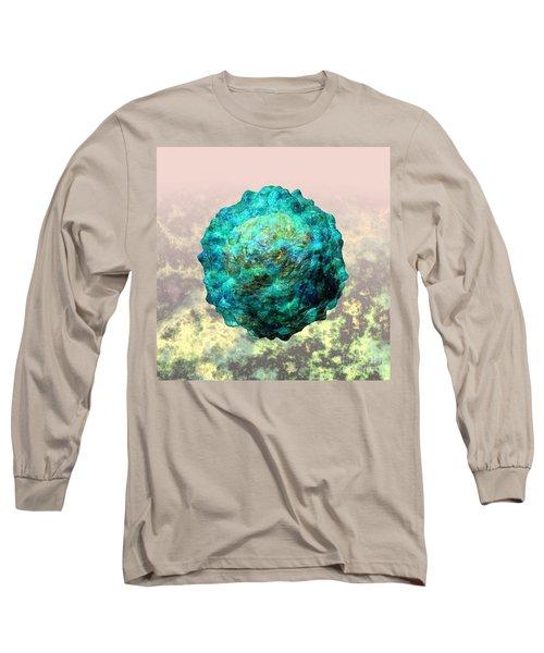 Polio Virus Particle Or Virion Poliovirus 1 Long Sleeve T-Shirt