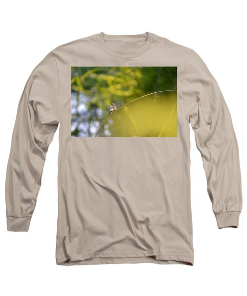 Long Sleeve T-Shirt featuring the photograph Pond-side Perch by JD Grimes