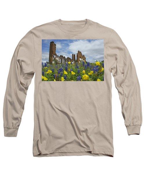 Pontotoc Schoolhouse Long Sleeve T-Shirt by Susan Rovira
