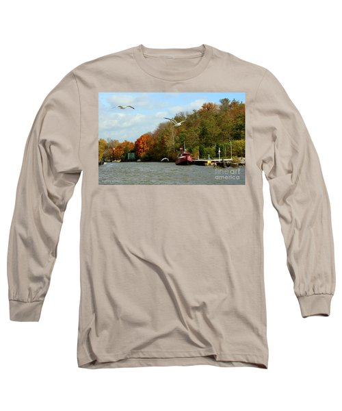 Long Sleeve T-Shirt featuring the photograph Port Dover Harbour by Barbara McMahon