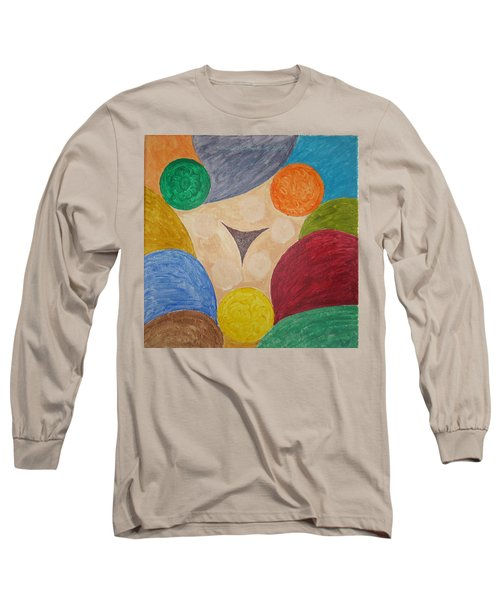 Long Sleeve T-Shirt featuring the painting Power Of Colors by Sonali Gangane