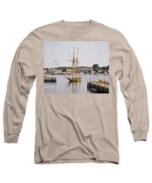Pride Of Baltimore II Pb2p Long Sleeve T-Shirt by Jim Brage
