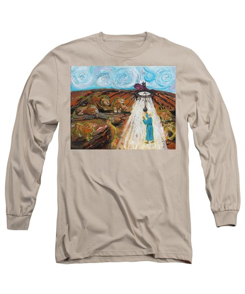 Prophetic Message Sketch 15 Daniel The Lion's Den And The Whirlwind Long Sleeve T-Shirt