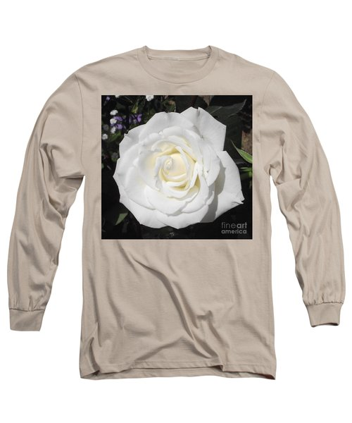Pure White Rose Long Sleeve T-Shirt