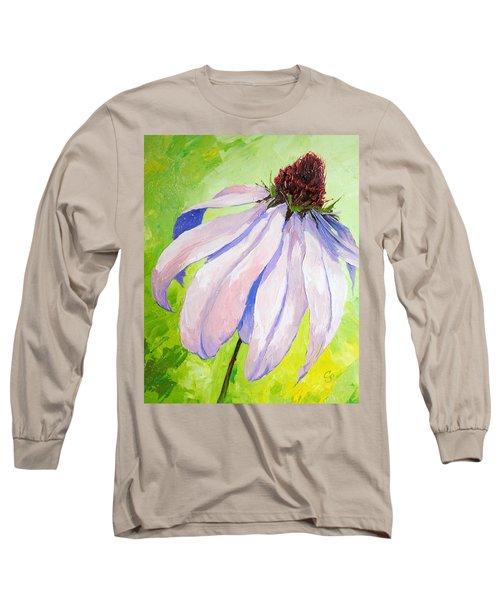 Purple Coneflower Long Sleeve T-Shirt