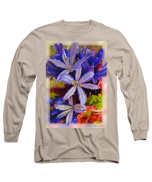 Long Sleeve T-Shirt featuring the photograph Purple Stars by Debbie Portwood
