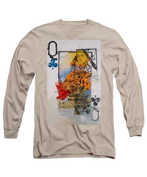 Queen Of Clubs 4-52  2nd Series  Long Sleeve T-Shirt