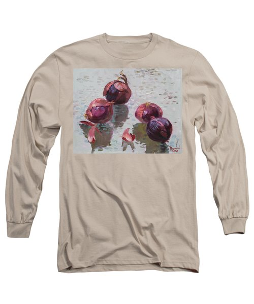 Red Onions Long Sleeve T-Shirt by Ylli Haruni