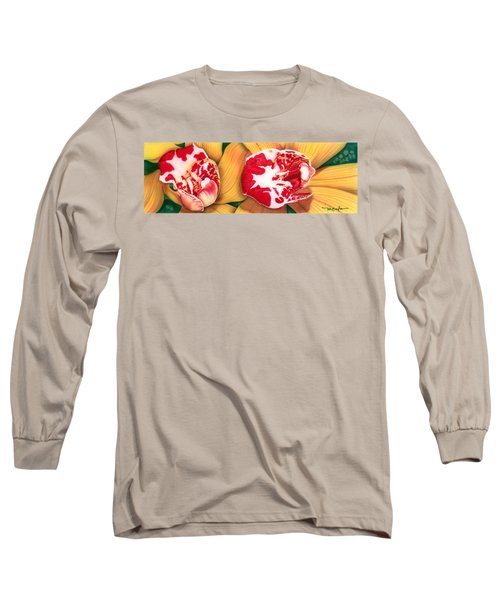 Red White And Yellow Long Sleeve T-Shirt