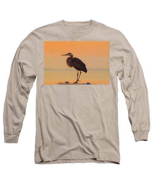 Resting Heron Long Sleeve T-Shirt