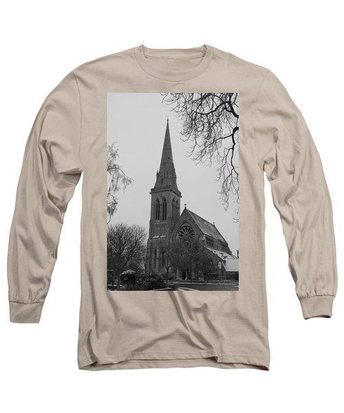 Long Sleeve T-Shirt featuring the photograph Richmond Village Church by Maj Seda