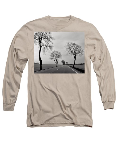 Road Through Windy Fields Long Sleeve T-Shirt