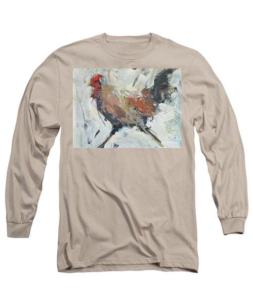Rooster Art  Long Sleeve T-Shirt by Robert Joyner