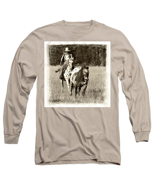 Round-up Long Sleeve T-Shirt by Jerry Fornarotto